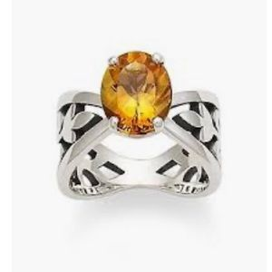 Retired James Avery Adorned With Citrine Ring Sz 7